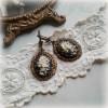 """Boucles d'oreilles victoriennes camées """"Bouquet antique"""""""