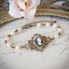 Bracelet camée Victorien couleur bronze et perles de nacre