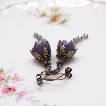 Clochettes Violettes – Boucles d'Oreille Féerique Emaillées