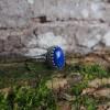 Bague médiévale argentée Lapis-Lazuli - Azur