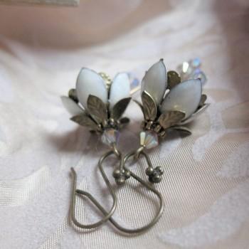 Clochettes Blanches - Boucles d'Oreilles Féerique émaillées